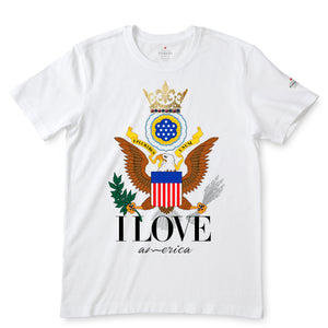 I Love America White T-Shirts