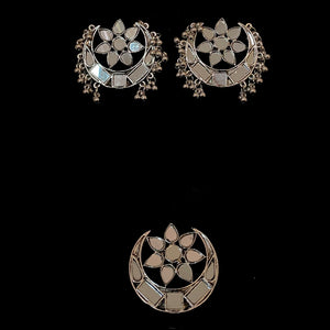 Mirrored Moon & Star Earring Set with Ring