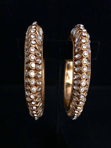 Crystal & Gold Bangles - Pair Size 2.6-ARZIA