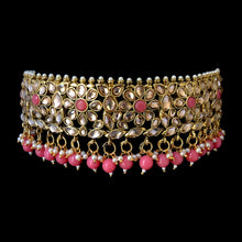 Load image into Gallery viewer, Pink & Gold Choker Set-ARZIA