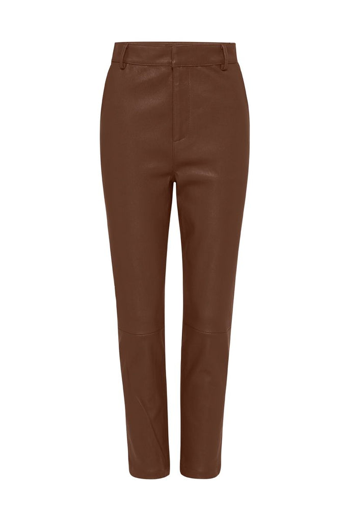 Cocoa Leather Easy Pant