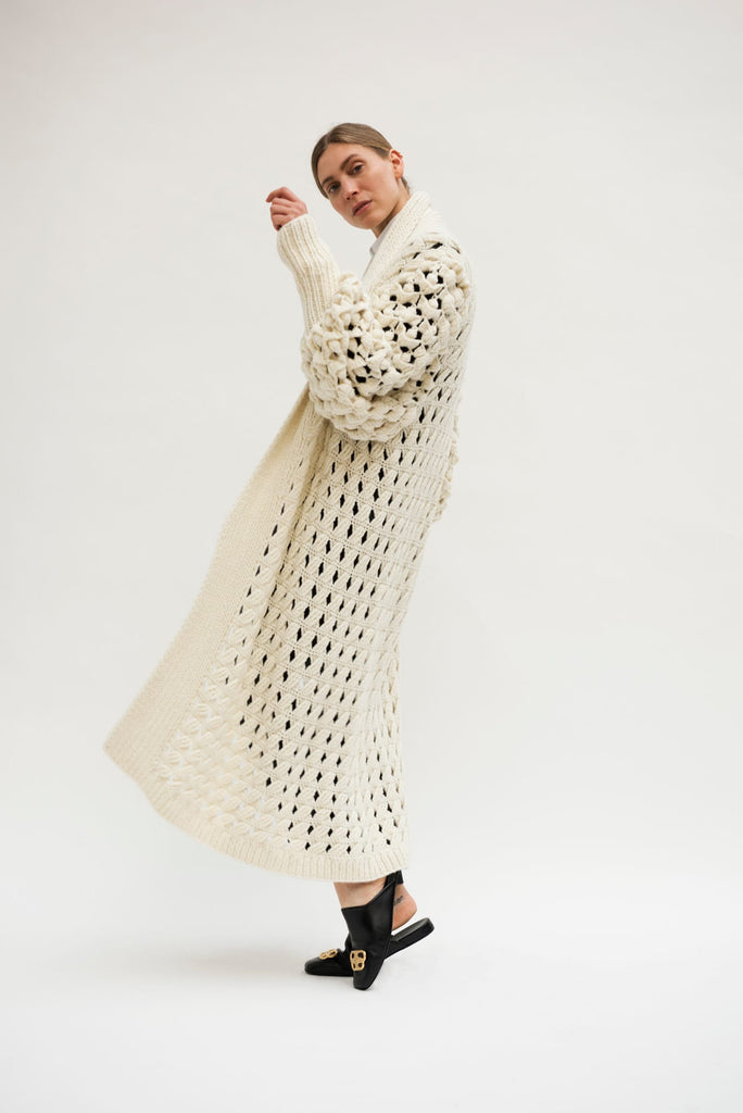 Pre Order- Exclusive Hand knitted Zoe Cashmere Coat