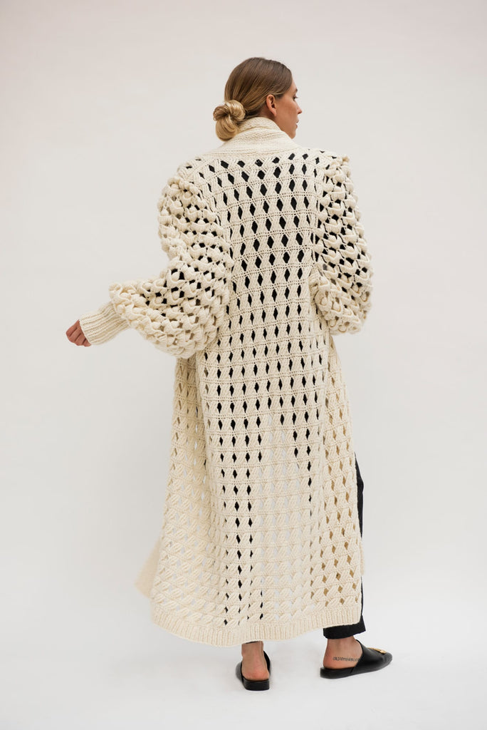 Exclusive Hand knitted Zoe Cashmere Coat