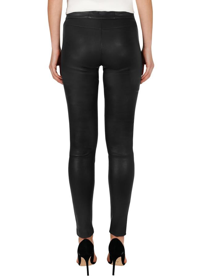 Luxe Black Iconic Skinny Leg Leather Pants