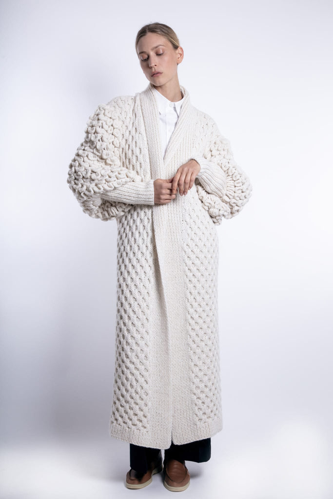 Exclusive Hand Knitted Eva Cashmere Coat