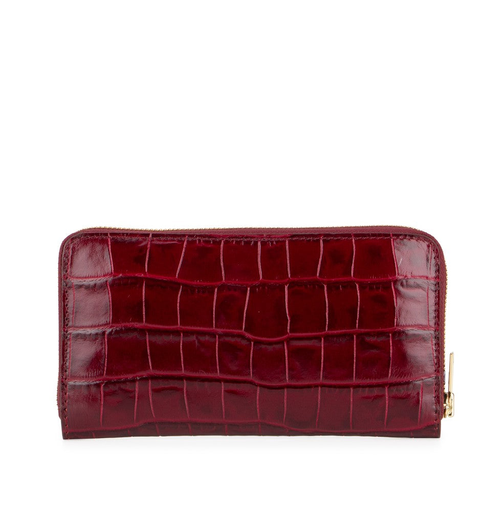 Deadly Ponies Mr Wallet Bordeaux Croc