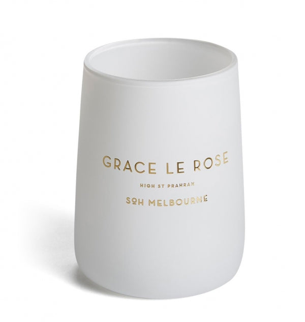 SOH Grace Le Rose Candle Matte White