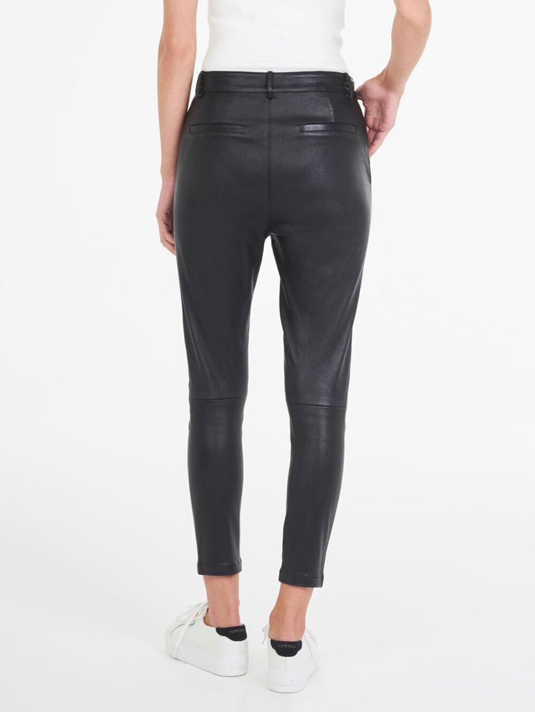 Luxe Black Leather Pant
