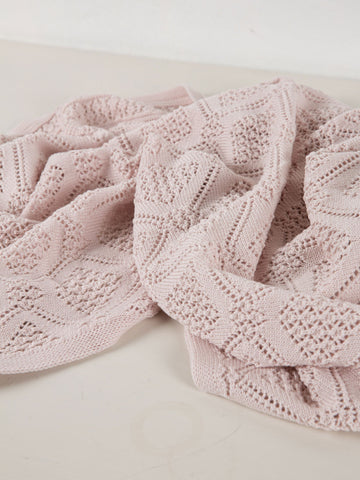 Geometric Baby Blanket | Dusty Pink