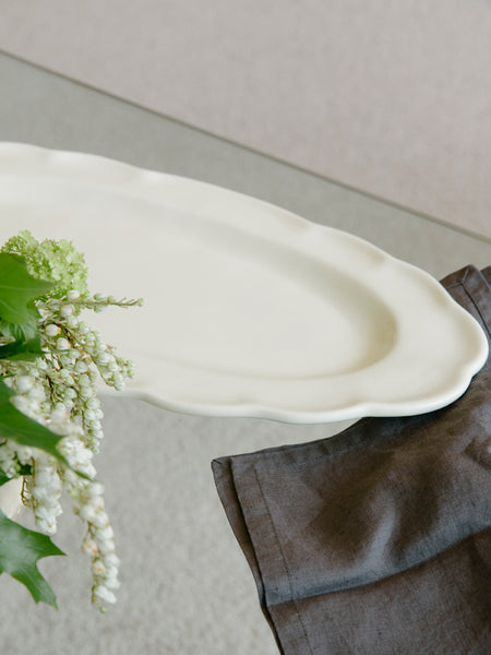 Large Scalloped Platter