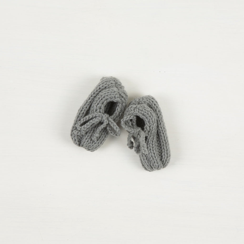 Hand Knitted Little Loafers - Weebits - Merino Wool