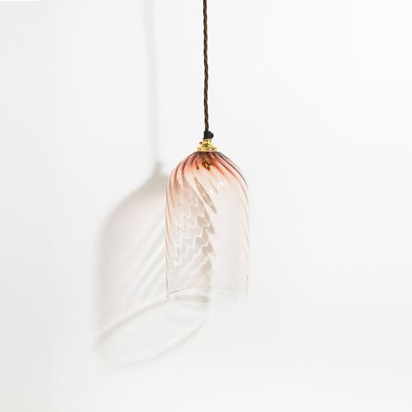 Twist Pendant | Tea | Monmouth Glass Studio | Tessuti NZ