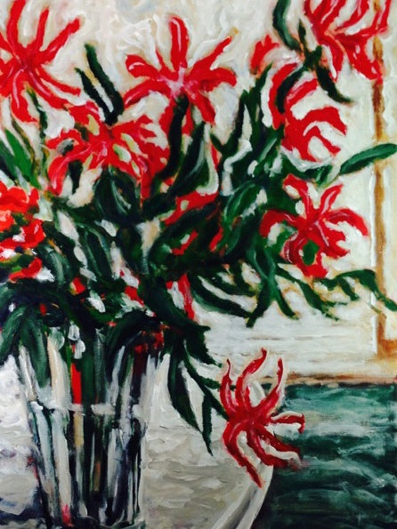 Gloriosa | Max Thomson Artist | Acrylic on Canvas | Tessuti NZ