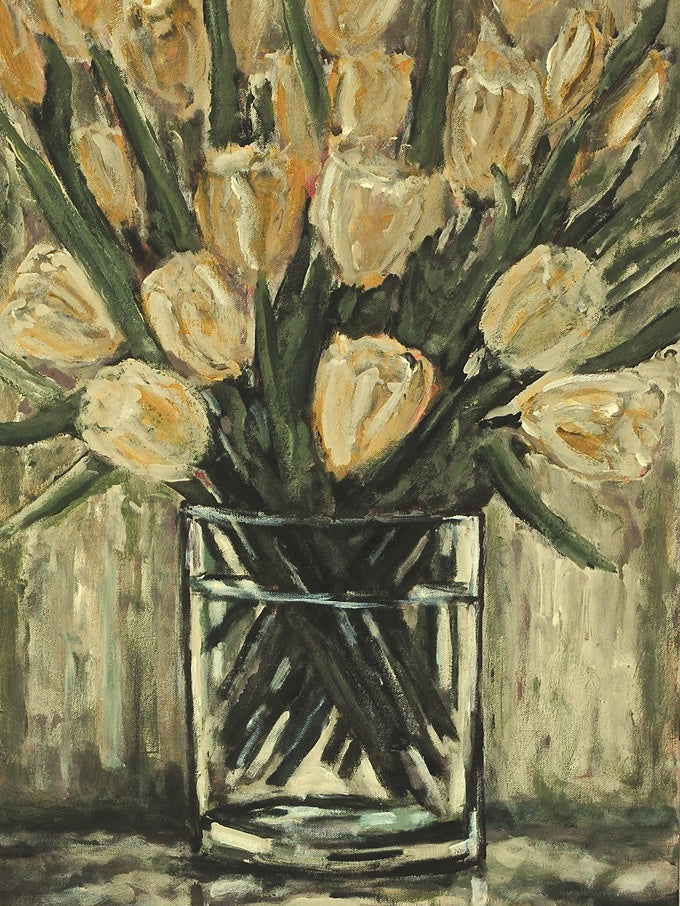 Yellow Tulips | Max Thomson | Acrylic on Canvas | Original Art | Tessuti