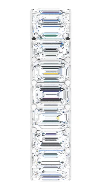 Emerald Cut Diamond Eternity Ring