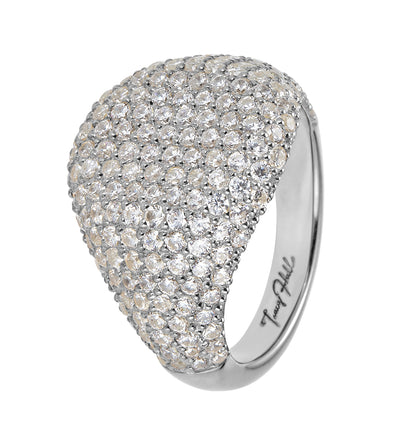 Diamond Encrusted Signet Ring