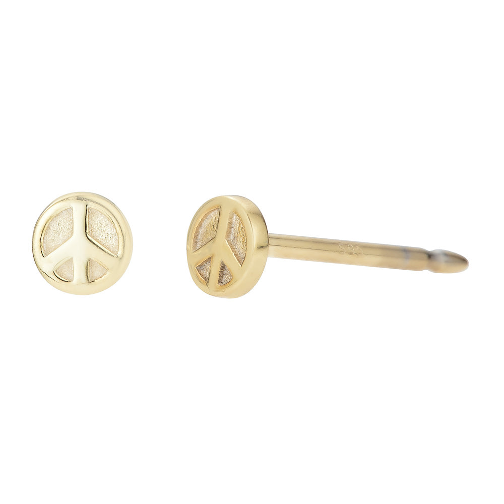 Mini Peace Sign Stud Earrings