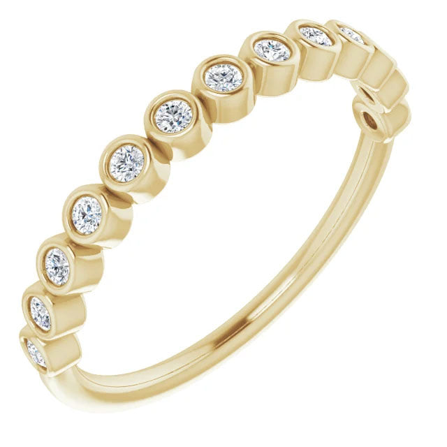 Multi-Bezel Round Cut Diamond Ring