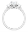Oval 3-Stone Diamond Ring
