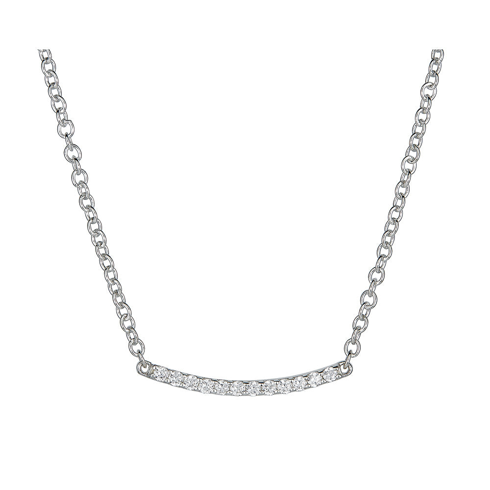 Pavé Diamond Bar Necklace
