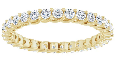 Petite Round Cut Diamond Eternity Ring