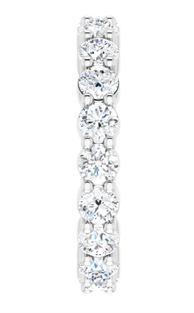 Round Cut Diamond Eternity Ring