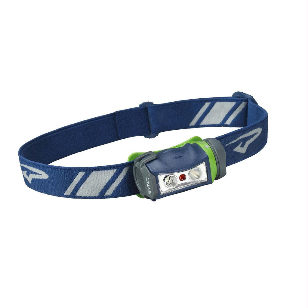 Princeton Tec 90 Lumen Sync Headlamp-Blue-Lime-Gray