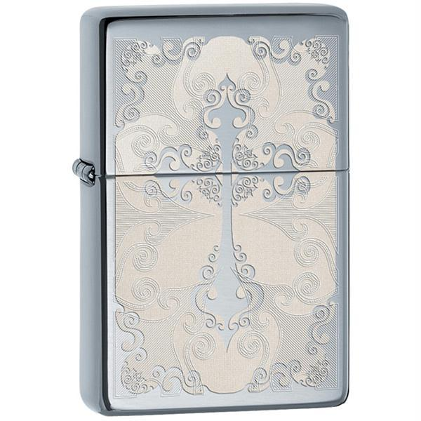 Zippo High Polish Chrome Vintage Lighter