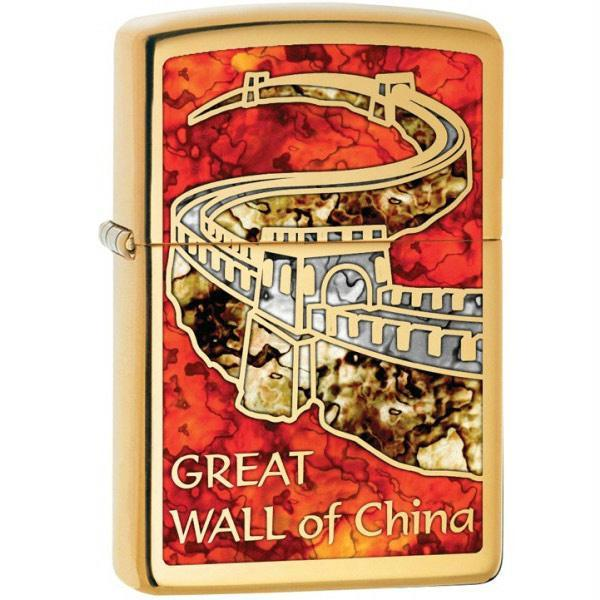 Zippo Brass Fusion The Great Wall of China Lighter
