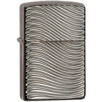 Zippo Armor Black Ice Deep Carve Sleek Design Lighter