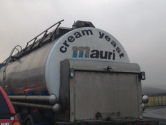 Cream yeast lorry ahead of us on the ferry
