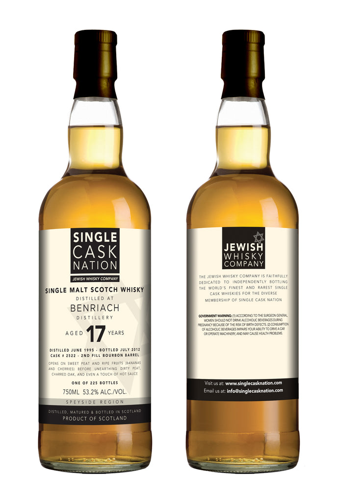 BenRiach 17, Peated, Bourbon Cask - ARCHIVED - Single Cask Nation®