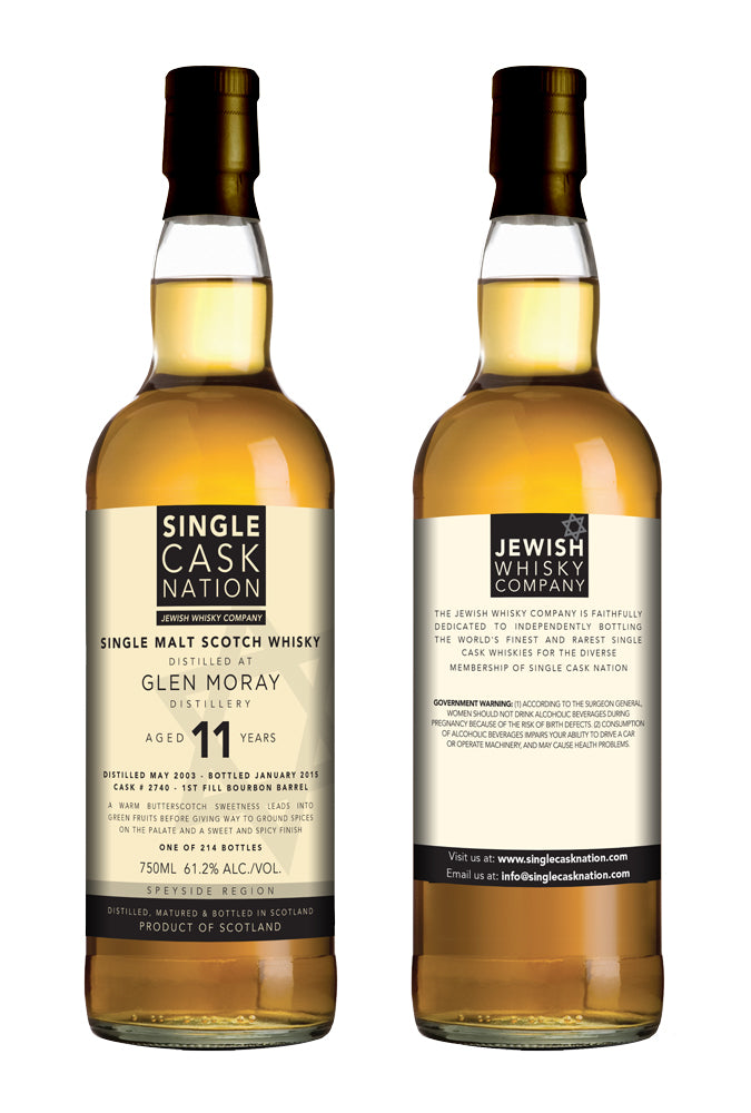 Glen Moray 11, Bourbon Barrel - Single Cask Nation®