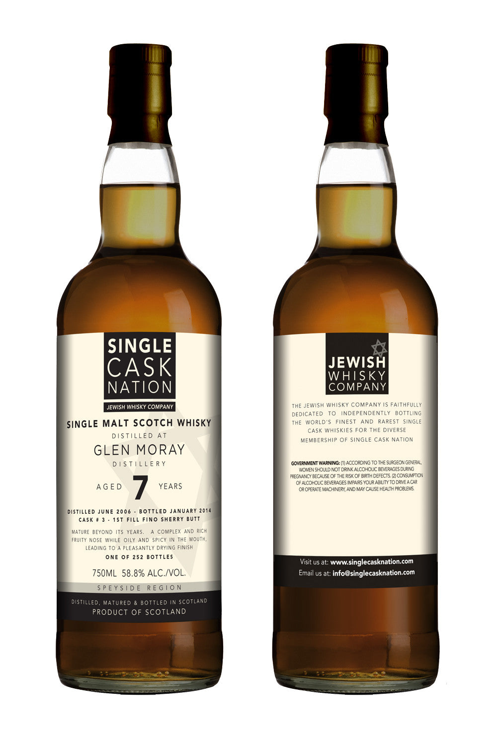 Glen Moray 7, Fino Sherry Butt - ARCHIVED - Single Cask Nation®
