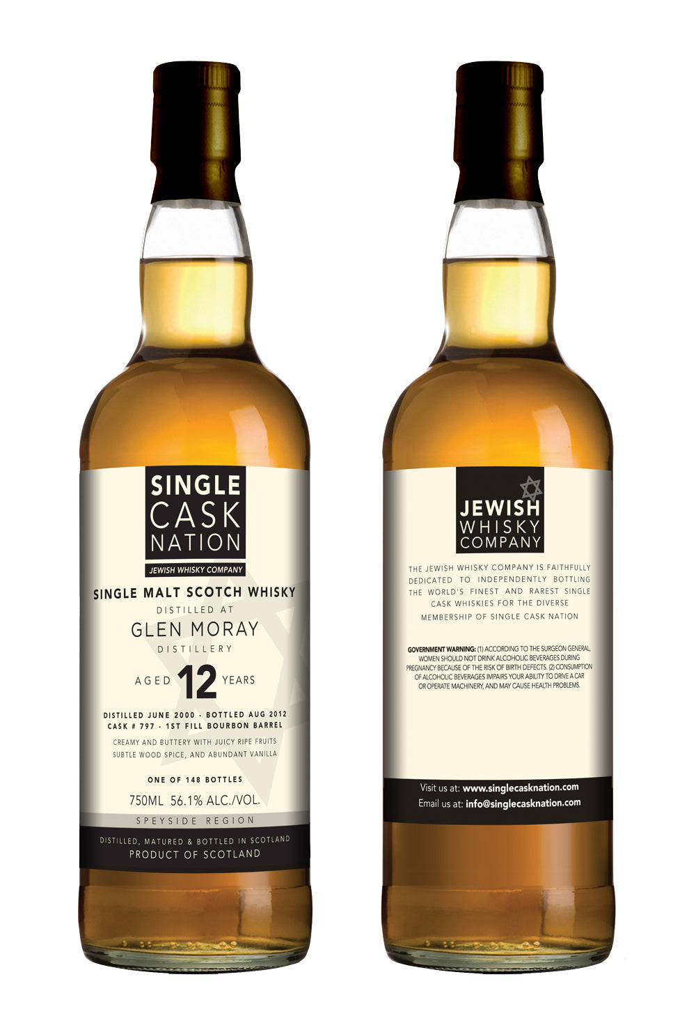 Glen Moray 12, Bourbon Cask - ARCHIVED - Single Cask Nation®