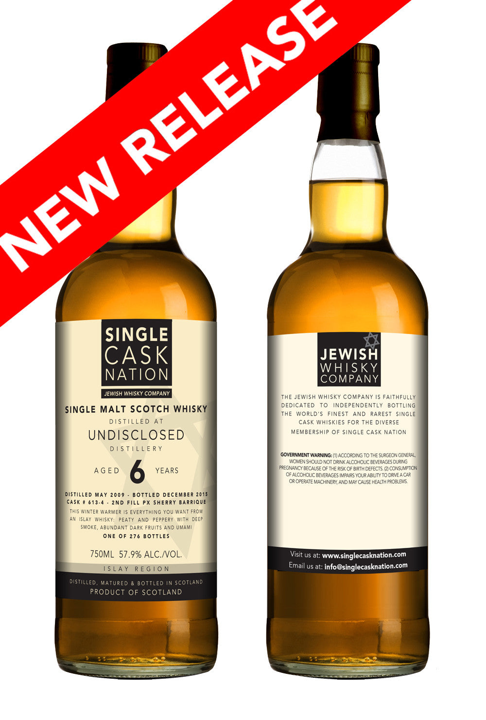 Undisclosed Islay 6, 4th release, 2009 distillate, PX Barrique - T5C - PRE-SALE - Single Cask Nation®