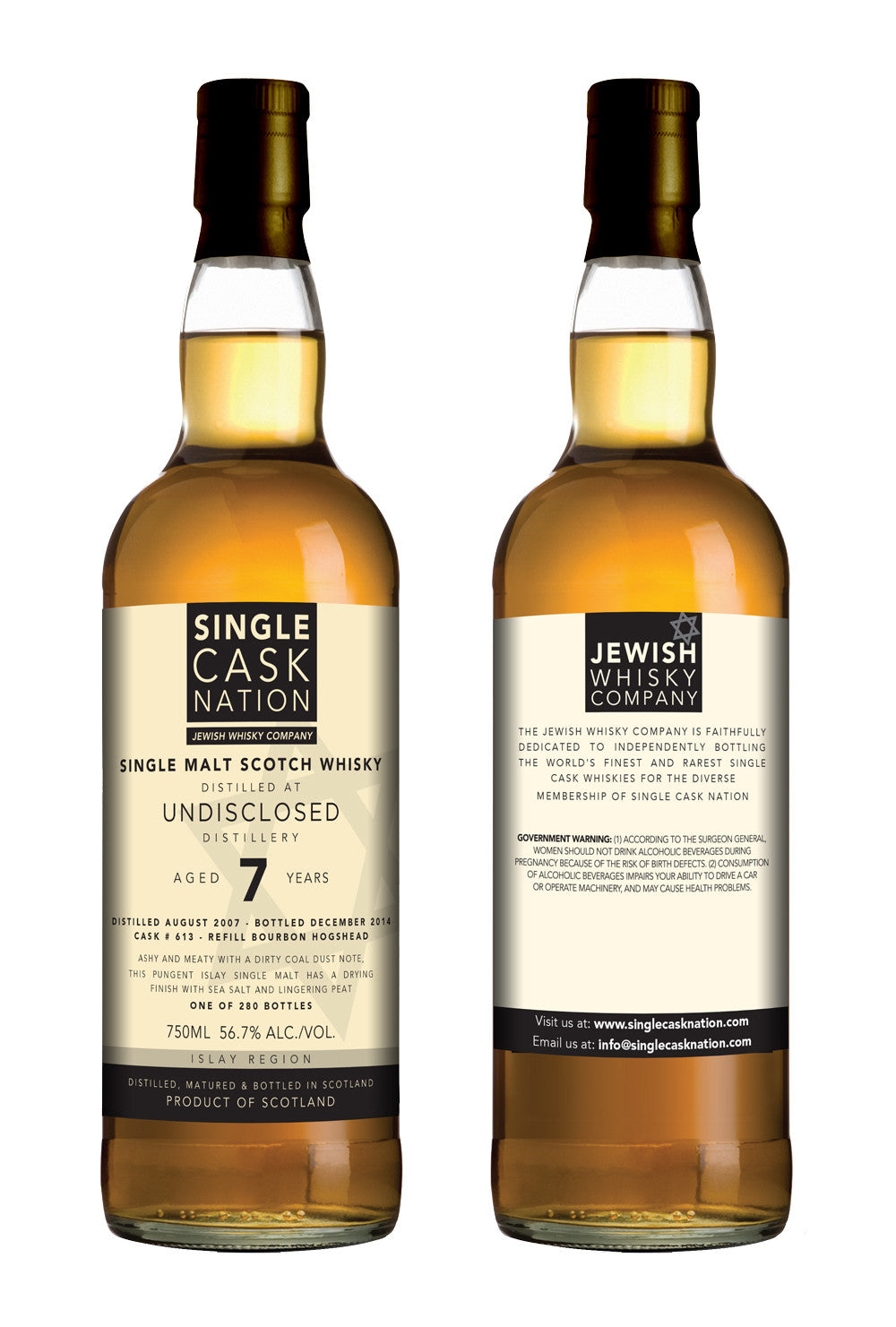 Undisclosed Islay 7, 1st release, 2007 distillate, Bourbon Hogshead - ARCHIVED - Single Cask Nation®