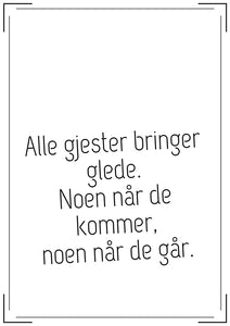 Quotes  - Alle gjester
