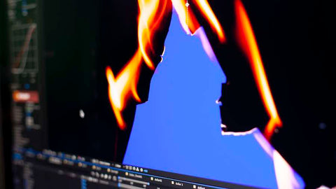 Behind the Scenes Burning Transitions Post-production