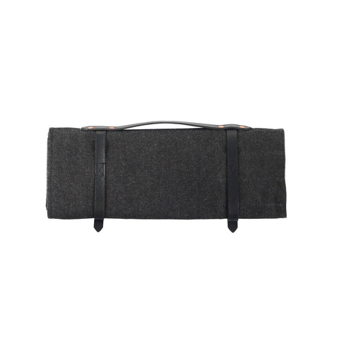 Knife Roll - Waxed Denim - Black