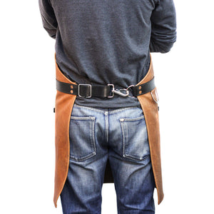 Rugged Apron - Leather - Cognac