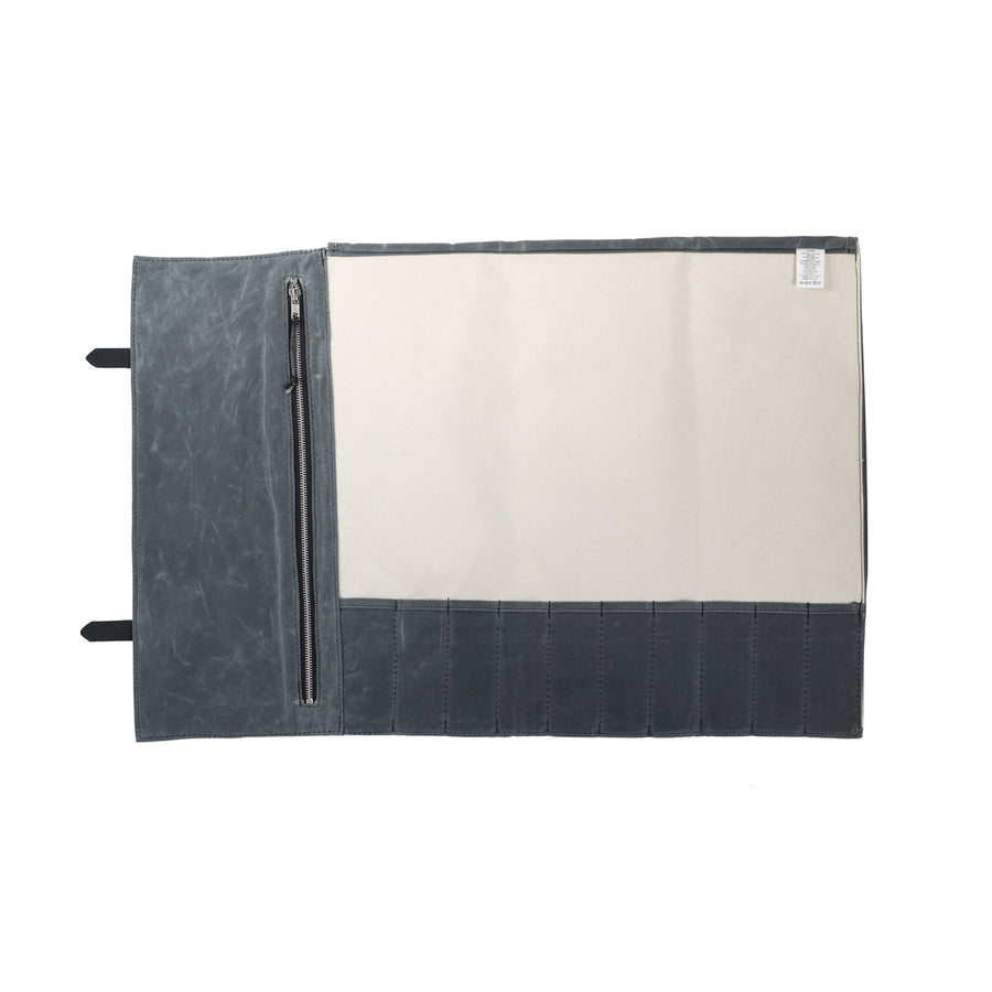 Knife Roll - Waxed Canvas - Charcoal