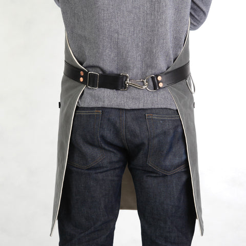 Rugged Apron - Waxed Canvas - Charcoal