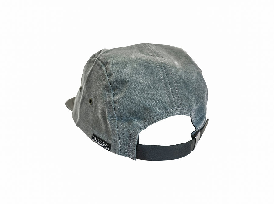 Five Panel Hat - Waxed Canvas - Charcoal