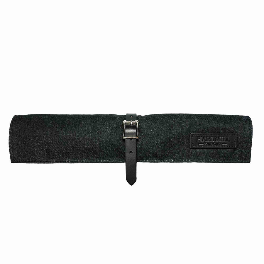 Compact Knife Roll - Waxed Denim - Black