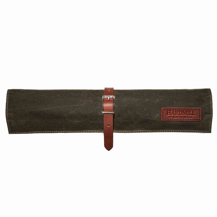 Compact Knife Roll - Waxed Canvas - Dark Oak