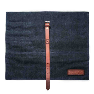 Compact Knife Roll - Waxed Denim - Indigo