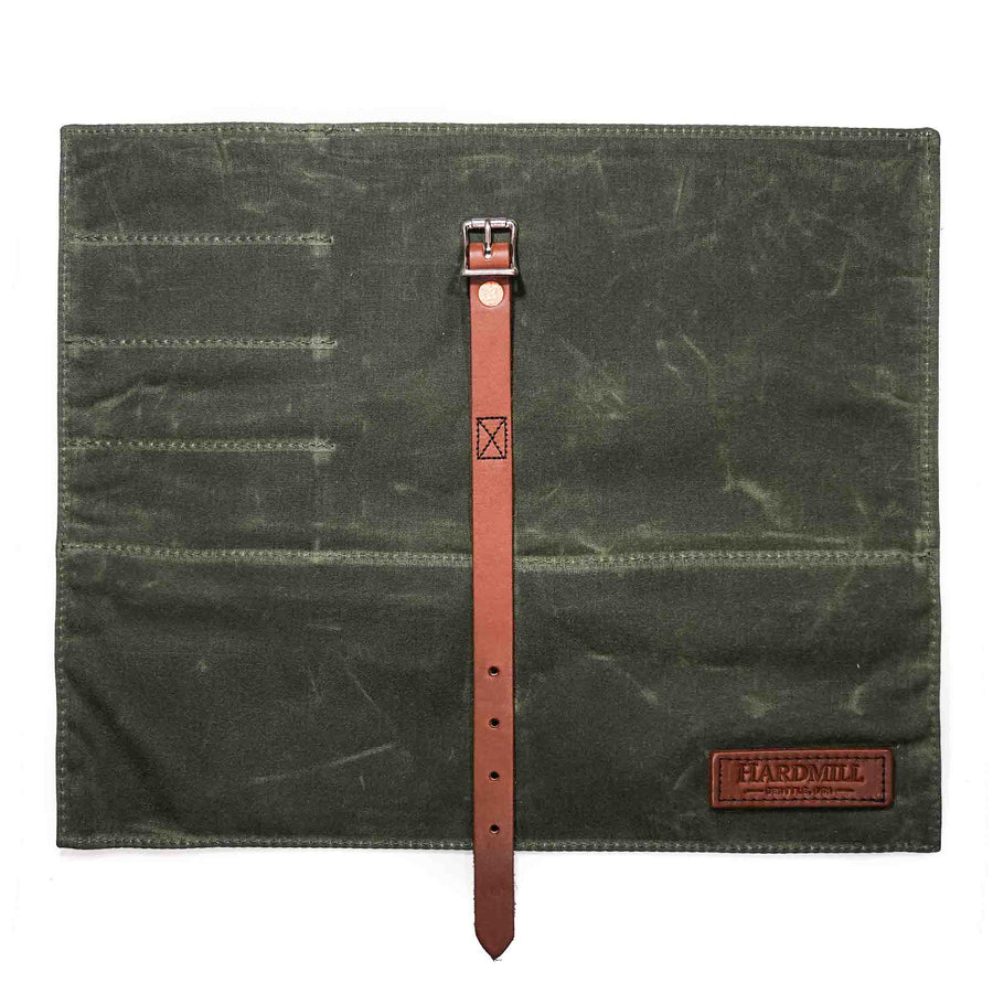 Compact Knife Roll - Waxed Canvas - Olive