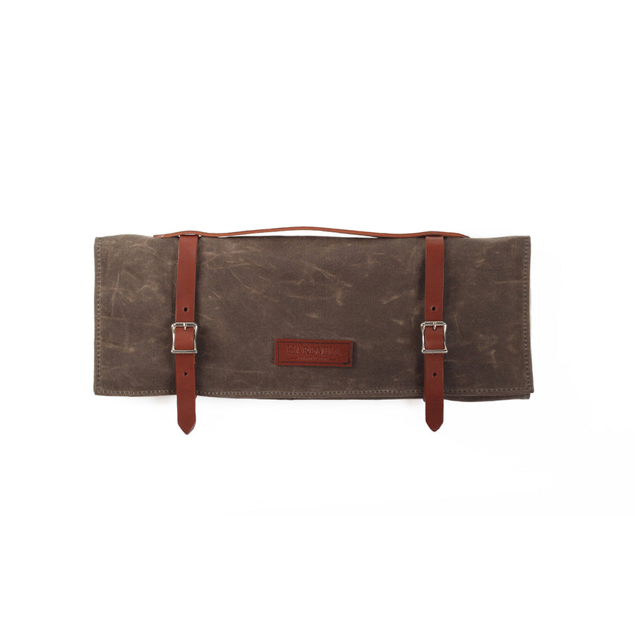 Knife Roll - Waxed Canvas - Dark Oak
