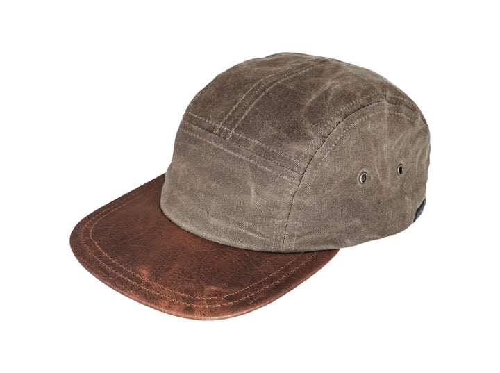 Five Panel Hat - Waxed Canvas - Dark Oak